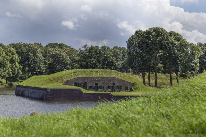 El Naarden-conceder del fuerte de Medievel imagen de archivo libre de regalías
