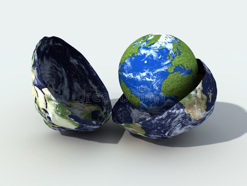 El nacimiento de un nuevo globo ilustración del vector