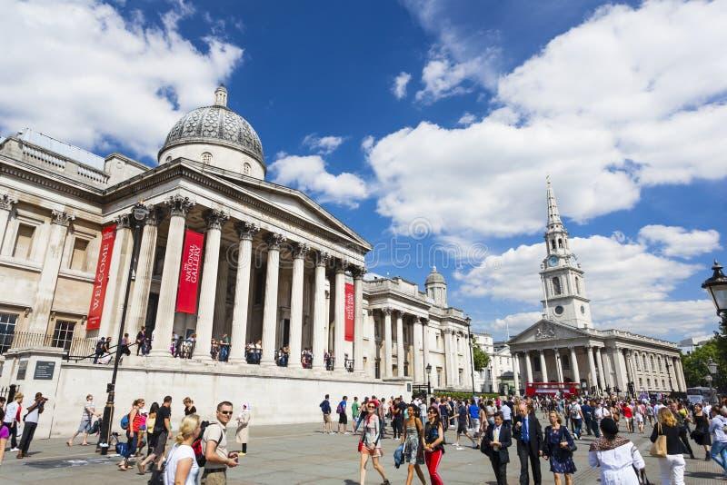El National Gallery en Londres, editorial fotografía de archivo