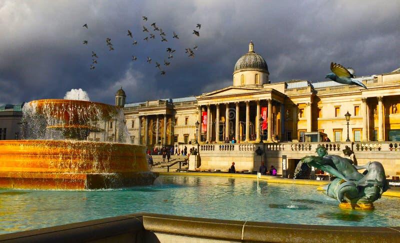 El National Gallery Londres fotos de archivo libres de regalías