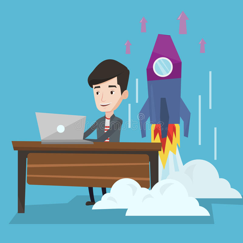 El negocio acertado comienza para arriba el ejemplo del vector libre illustration