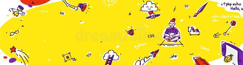El negocio b?sico, conceptos lineares del interfaz del web de Internet, vector la l?nea fina iconos fijados Línea moderna diseño  stock de ilustración