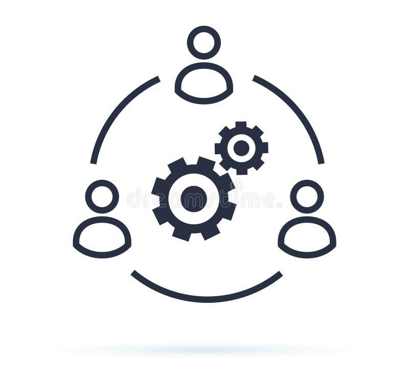 El negocio colabora imagen del vector del icono Concepto de Teamwork Corporation Icono conceptual del businessteam que trabaja co libre illustration