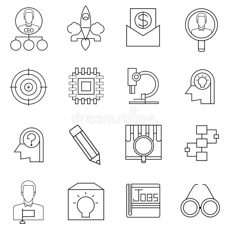 El negocio comienza para arriba iconos libre illustration