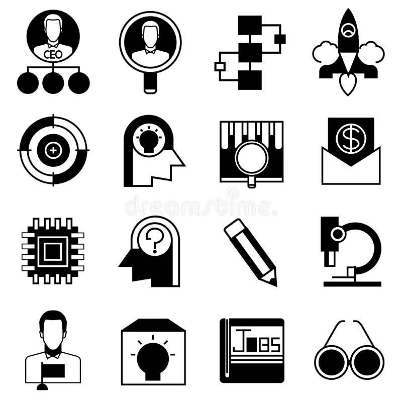 El negocio comienza para arriba iconos del concepto stock de ilustración