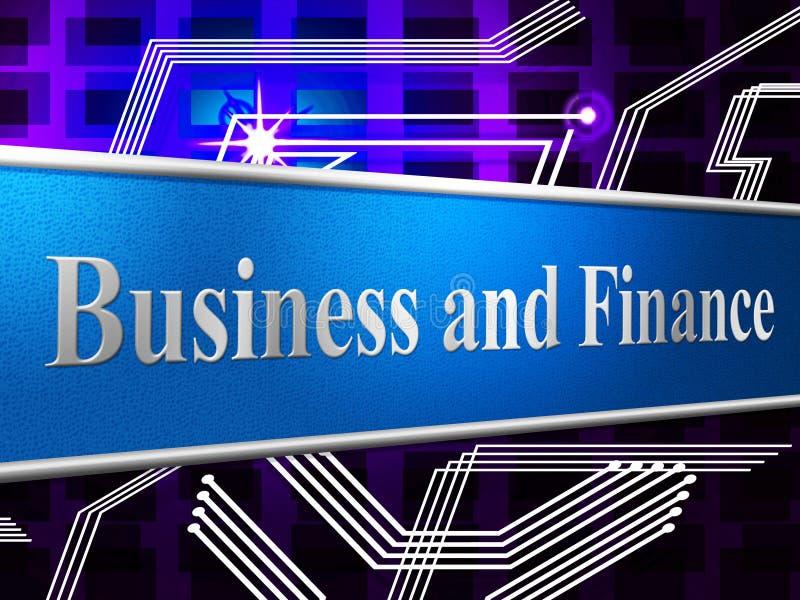 El negocio de las finanzas muestra las figuras inversión y comercio ilustración del vector