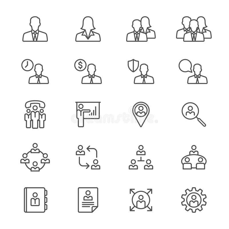 El negocio enrarece iconos ilustración del vector