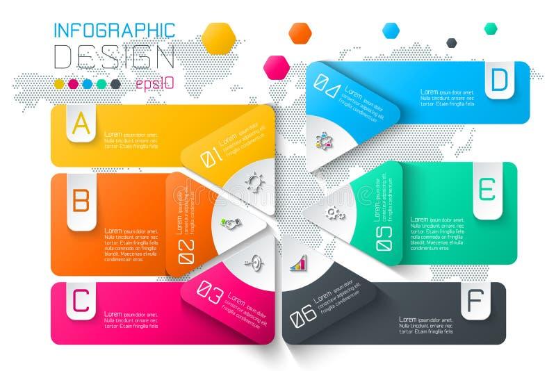 El negocio etiqueta infographic en dos capas de la barra de los círculos ilustración del vector
