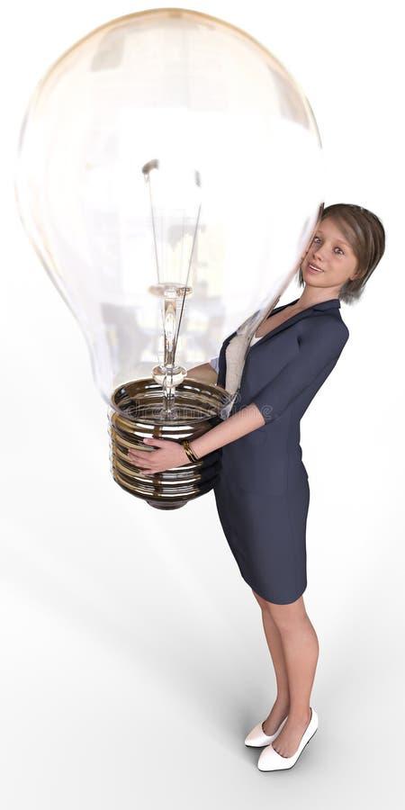 El negocio femenino del empresario comienza para arriba idea libre illustration