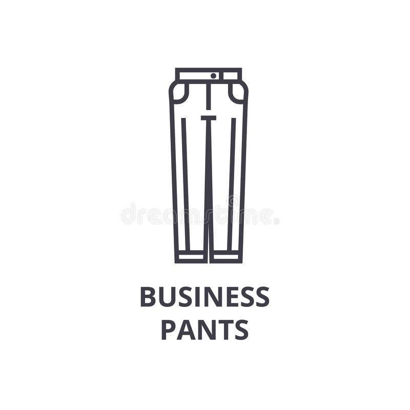 El negocio jadea la línea icono, muestra del esquema, símbolo linear, vector, ejemplo plano libre illustration