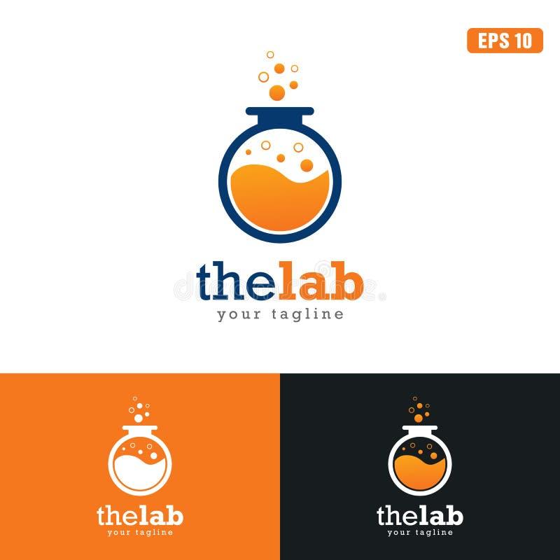 El negocio Logo Idea del diseño del vector del logotipo/del icono del laboratorio fotos de archivo