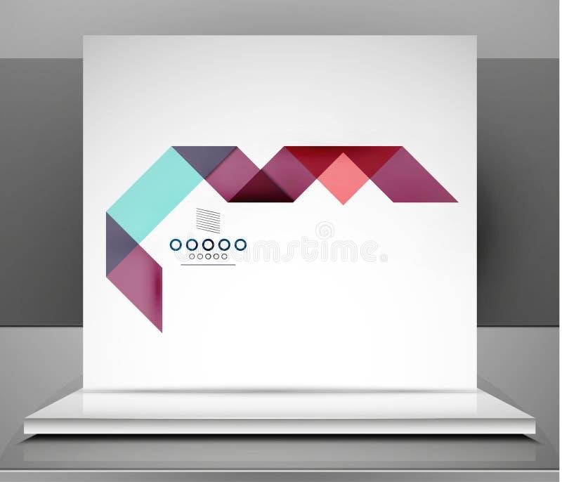 El negocio moderno del vector raya diseño infographic libre illustration