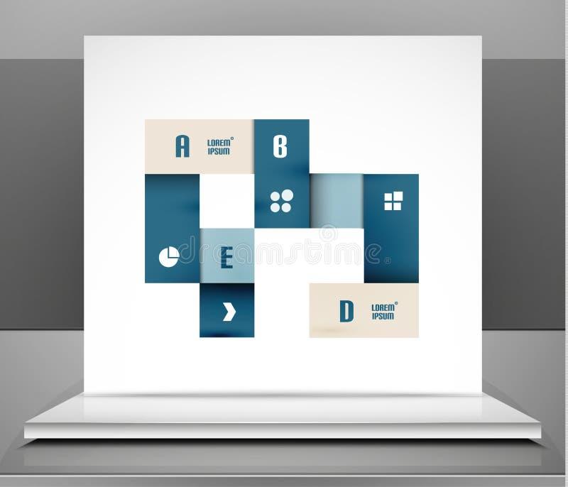 El negocio moderno del vector raya diseño infographic stock de ilustración