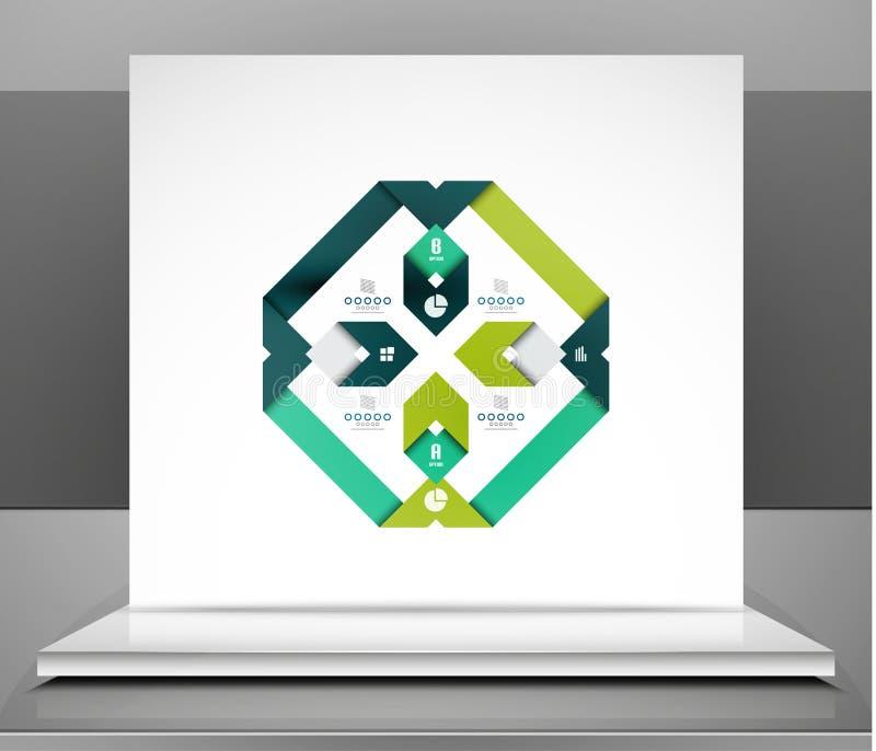 El negocio moderno del vector raya diseño infographic ilustración del vector
