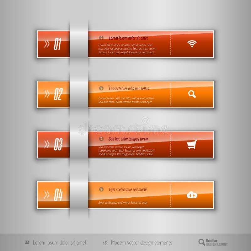 El negocio moderno tabula - infographics - la plantilla para el diseño web o ilustración del vector