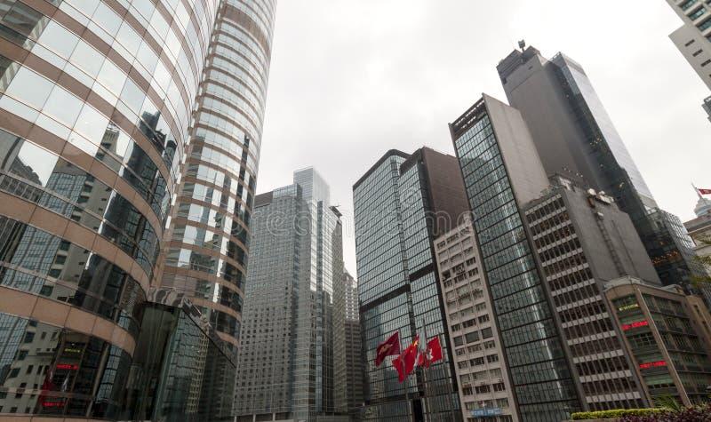 El negocio moderno y el centro financiero Hong Kong