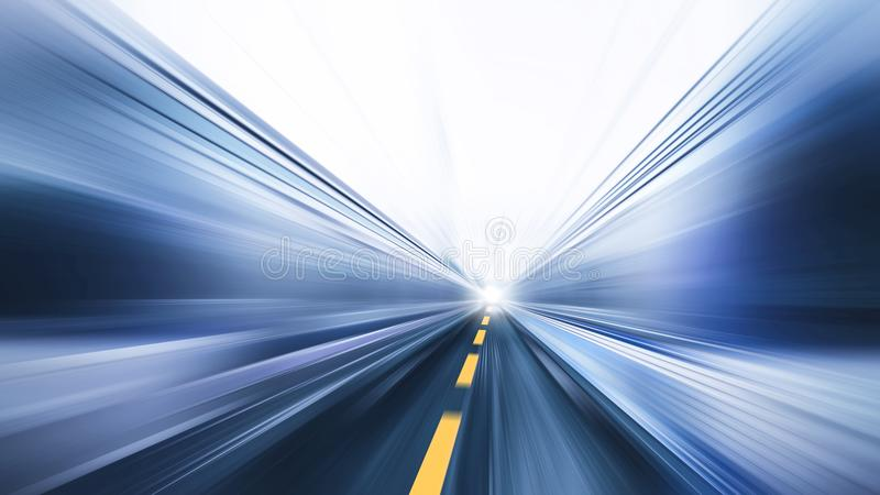 El negocio rápido de la carretera rápida de la falta de definición se realiza fotografía de archivo libre de regalías