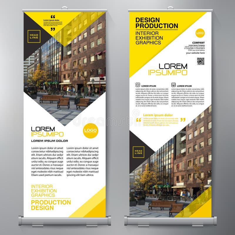 El negocio rueda para arriba Diseño del espectador de pie plantilla de la bandera presentación libre illustration