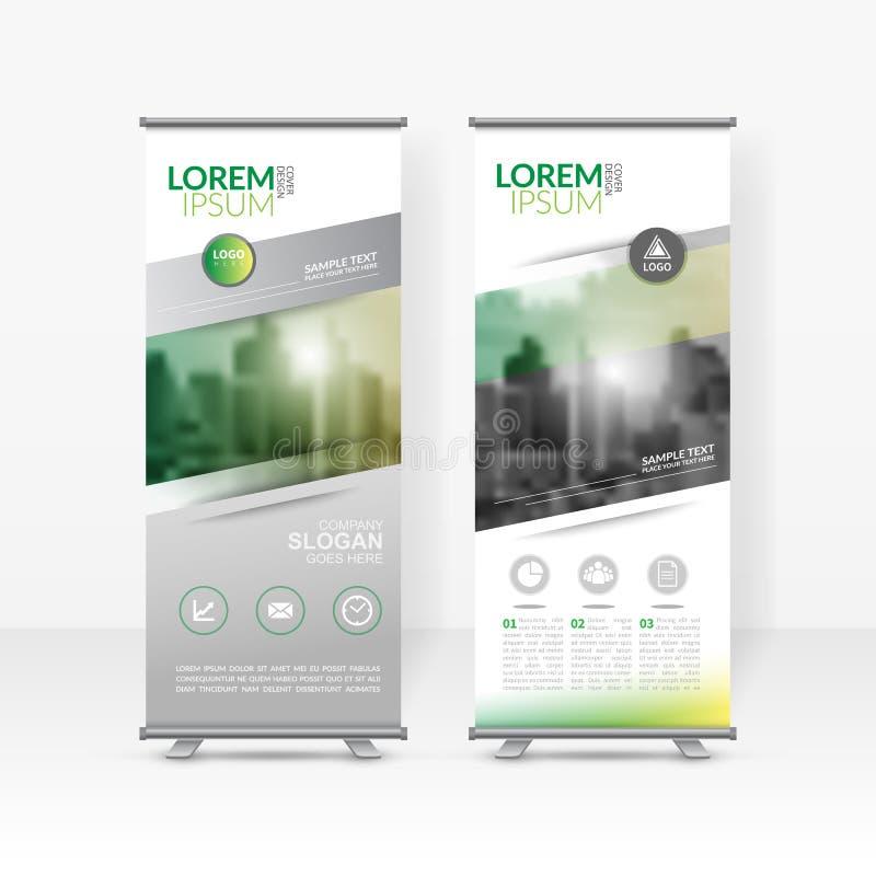 El negocio rueda para arriba la plantilla del diseño, X-soporte, disposición de diseño vertical de la bandera-bandera, el promove libre illustration