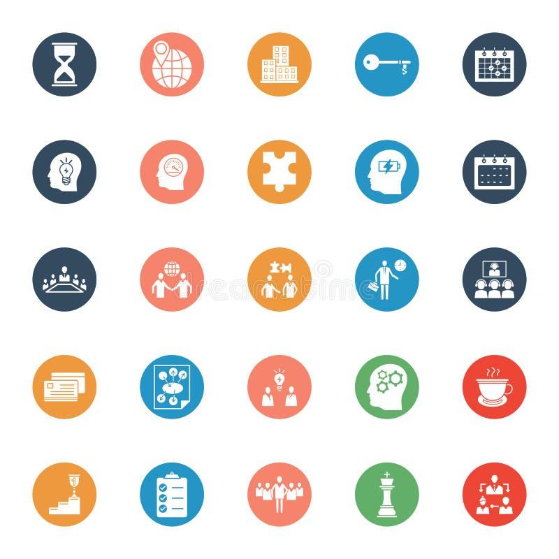 El negocio y la gestión aislaron los iconos del vector fijados que pueden estar fácilmente corrigen o se modifican ilustración del vector