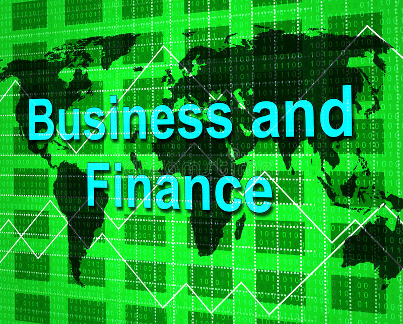 El negocio y las finanzas representa beneficio corporativo y financiero ilustración del vector