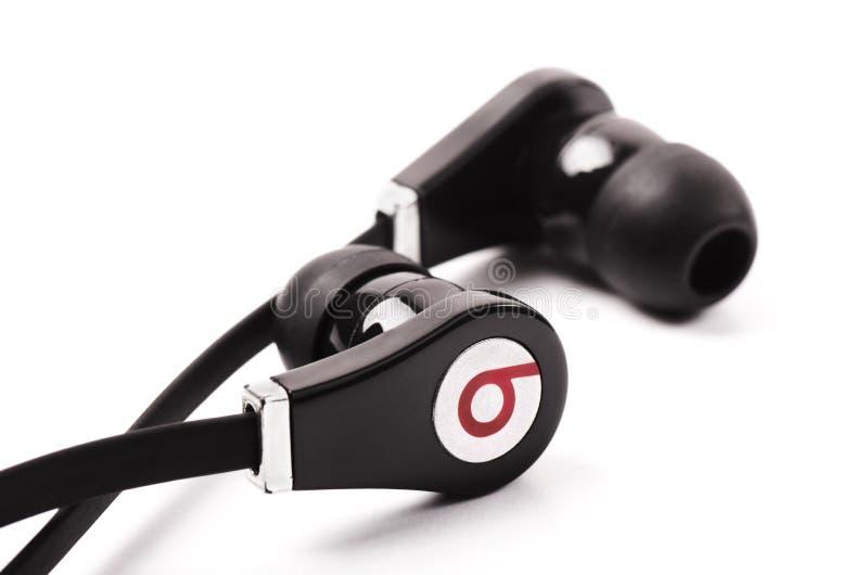 El negro bate los auriculares audios foto de archivo libre de regalías