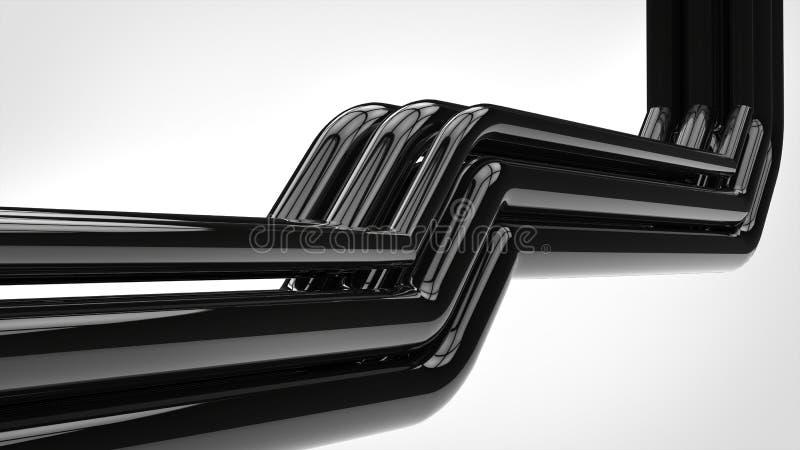 El negro brillante de Apstract instala tubos el tiro del primer libre illustration