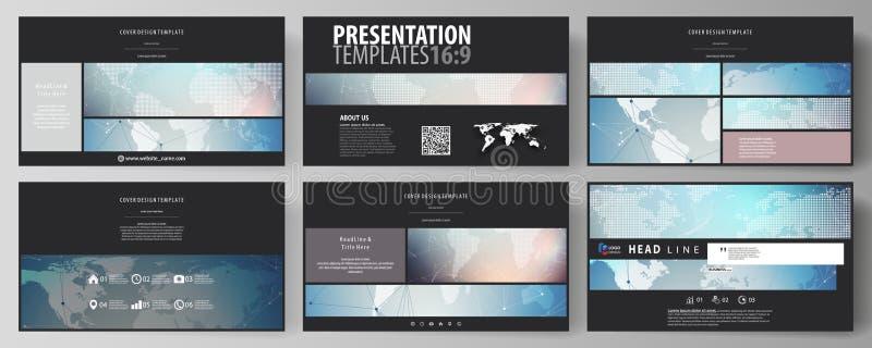 El negro coloreó el ejemplo minimalistic del vector de la disposición editable del alto diseño de las diapositivas de la presenta libre illustration