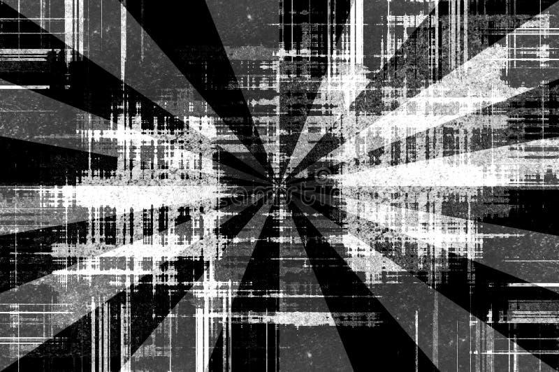 El negro del grunge del arte irradia el fondo abstracto del modelo libre illustration