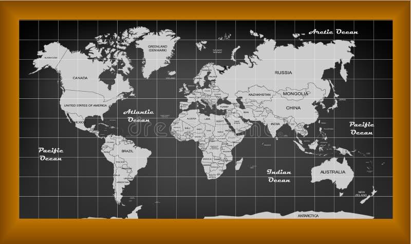 El negro del mapa libre illustration