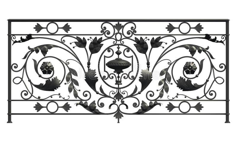 El negro forjó cedazo ilustración del vector