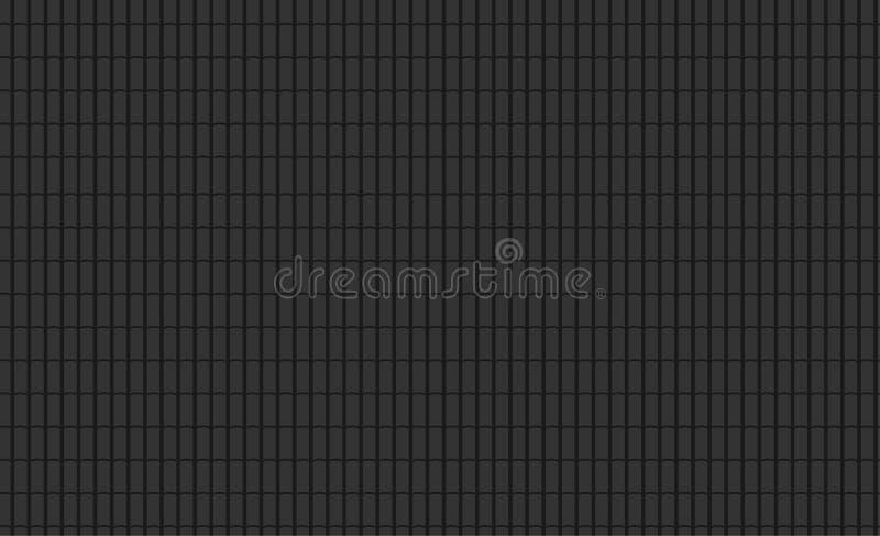 El negro inconsútil del modelo tejó el tejado ilustración del vector