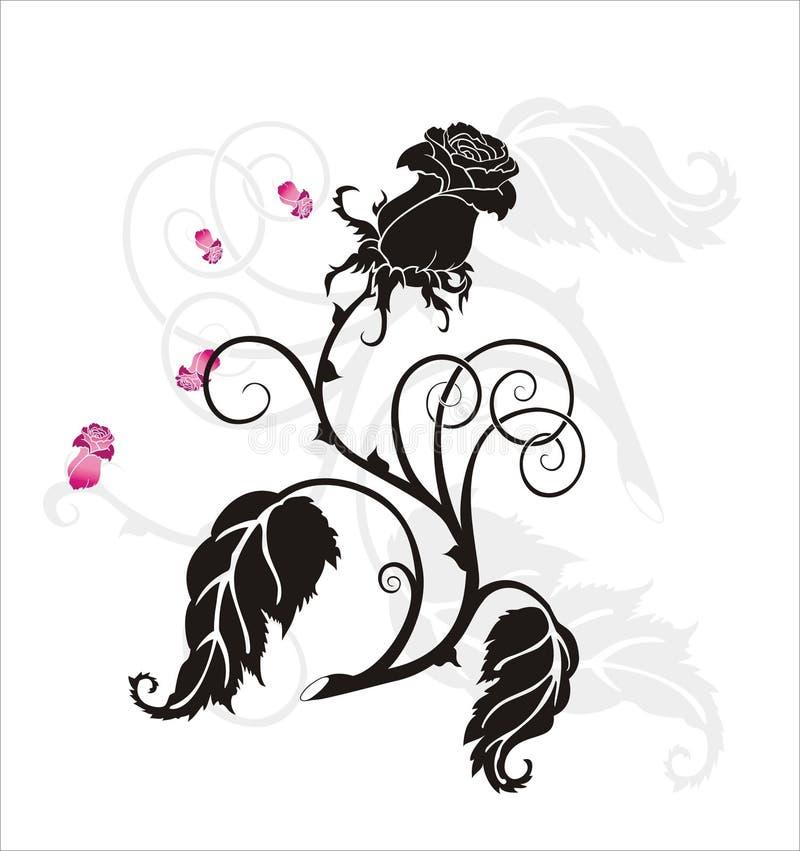 Download El negro se levantó ilustración del vector. Ilustración de contorno - 1297067
