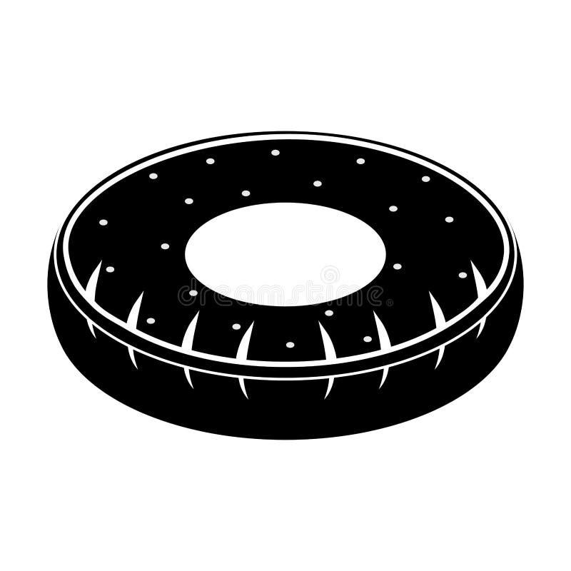 El neumático aislado formó el icono del flotador de la piscina ilustración del vector