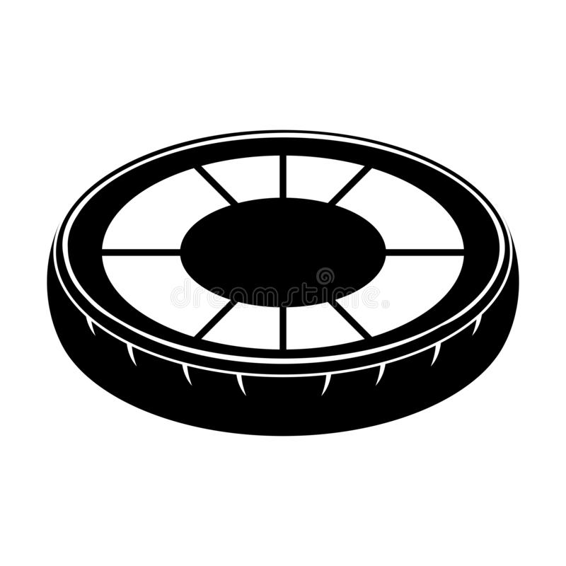 El neum?tico aislado form? el icono del flotador de la piscina stock de ilustración