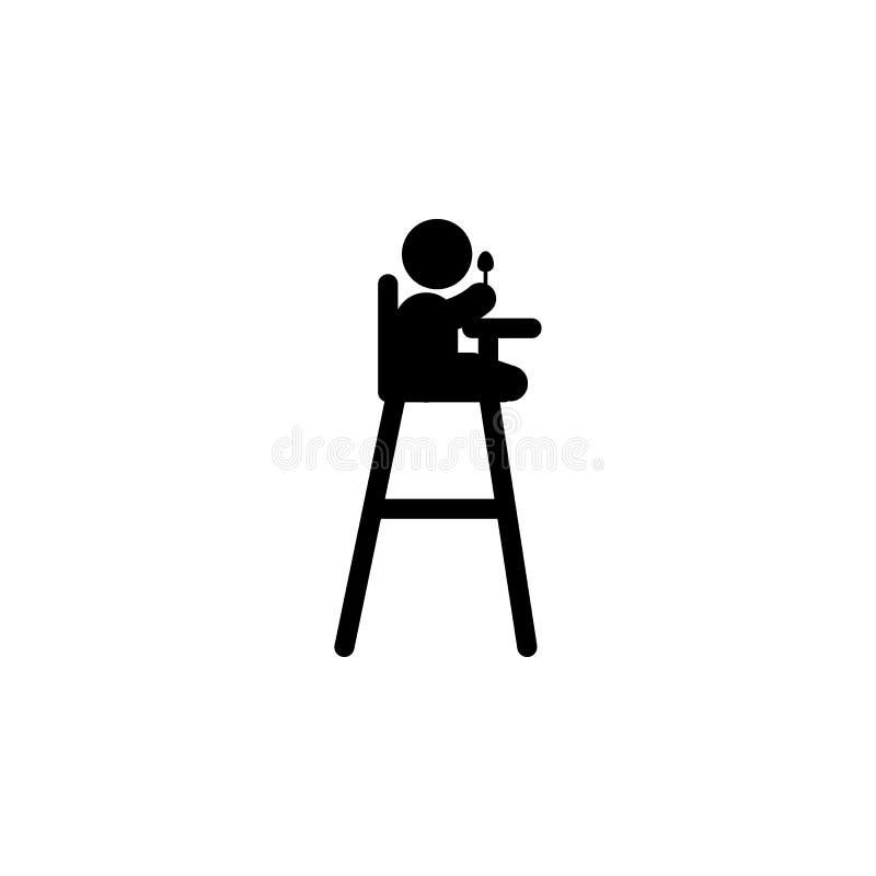 el niño come el icono Elemento del icono del desarrollo del niño para los apps móviles del concepto y del web El niño del Glyph c libre illustration