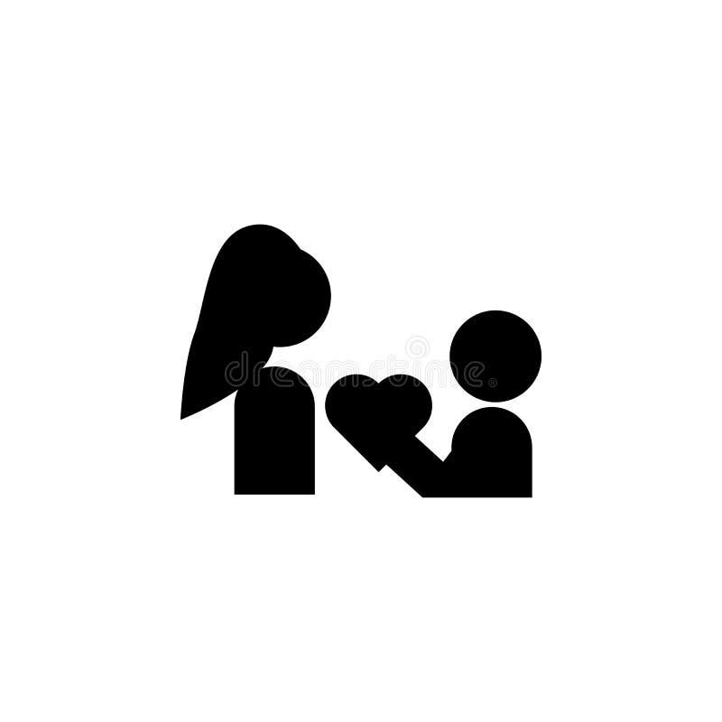 el niño da el corazón al icono de la madre Elemento del icono del día de madres Icono superior del diseño gráfico de la calidad M libre illustration