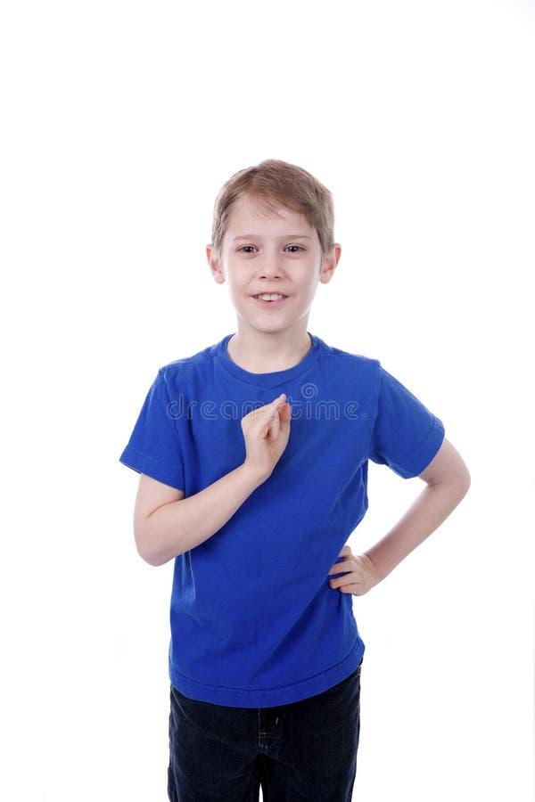 El niño firma I foto de archivo libre de regalías