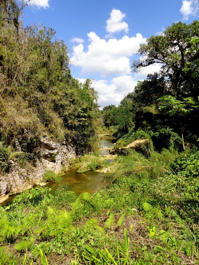 El Nicho Waterfalls stock images