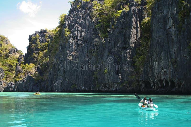 el nido kayak adventure holiday palawan philippines royalty free stock photo