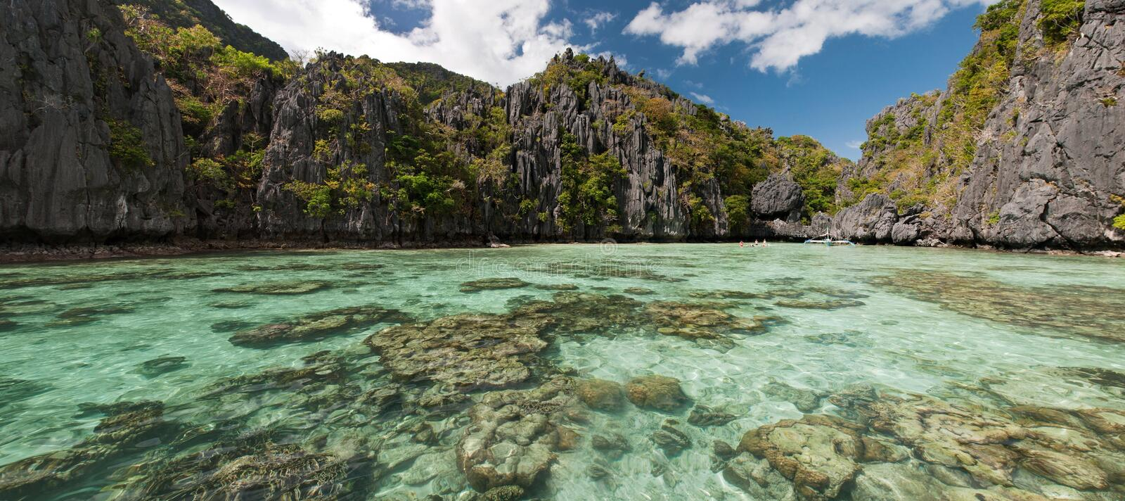 El Nido, Philippines. El Nido pure clear water, Philippines royalty free stock images