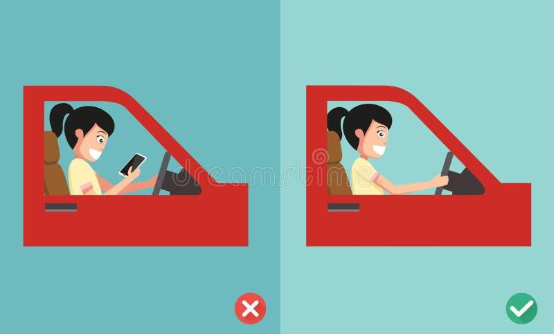 El ningún mandar un SMS, el ningún hablar ilustración del vector