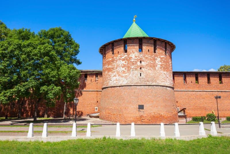 El Nizhny Novgorod el Kremlin imagen de archivo