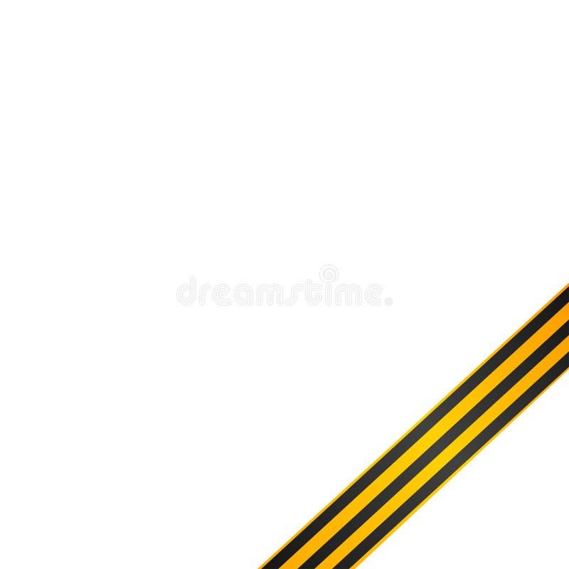 el 9no de puede concepto de la tarjeta de felicitación Vector la cinta dibujada mano de San Jorge \ 'de s Traducción rusa de la i ilustración del vector