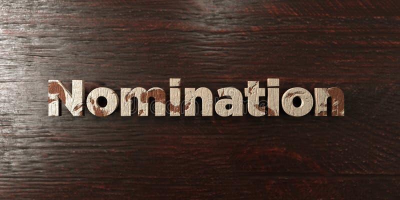El nombramiento - título de madera sucio en arce - 3D rindió imagen común libre de los derechos libre illustration