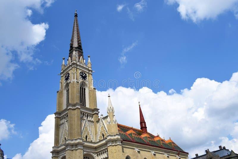 El nombre de la iglesia de Maria, Novi Sad, Serbia fotografía de archivo