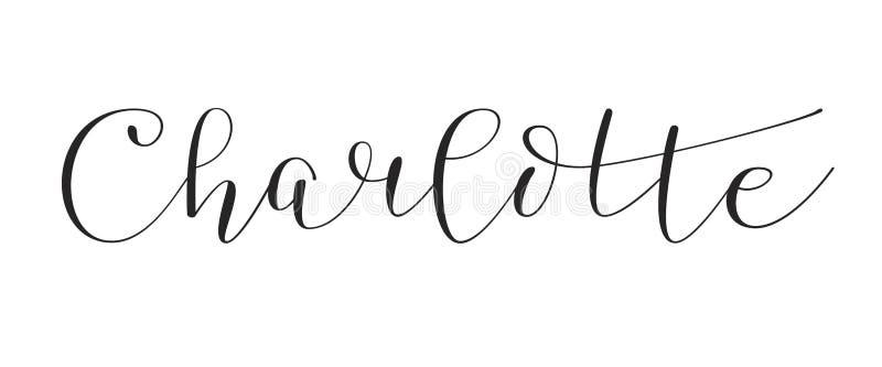 El nombre de la muchacha - Charlotte stock de ilustración