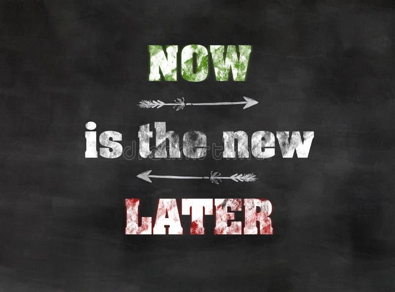 El Now es el nuevo más adelante fotografía de archivo libre de regalías