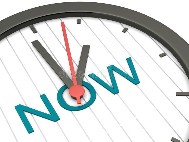 El Now es el tiempo ilustración del vector