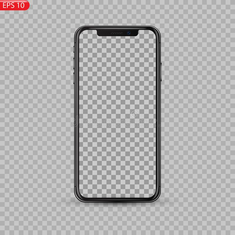 El nuevo alto detalló Smartphone realista similar al iphone aislado en el fondo blanco libre illustration